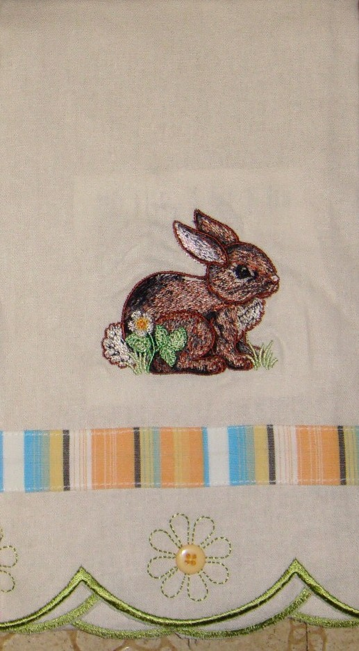 Embroidery rabbit for Rabbit decorations home